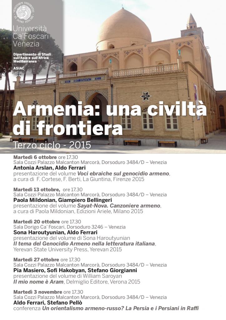 Armenia civiltà di frontiera 10-2015